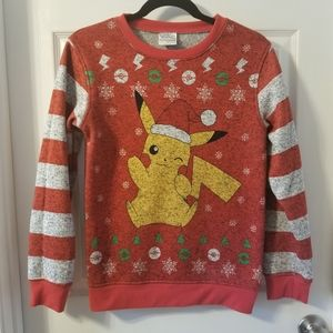 Pikachu holiday sweatshirt